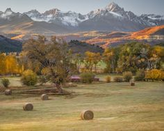 Colorado Color -  San Juan Mountains. Nearest Town:  Ridgway. Photo By Valerie Millett.