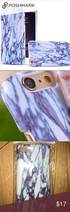 Iphone 7 blue&white marble print cell phone cover Iphone 7 blue  & white marble print cell phone cover *NWT* Lightweight and chic Accessories Phone Cases
