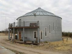 Alternative Home - Grain Bin Home - photo by Mother Earth News    littlehouseinthevalley.com