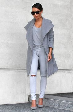 Casual chic in shades of gray.