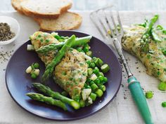 This tasty vegetarian omelette combines fresh asparagus, potato and mint to create a brilliant healthy breakfast for any day of the week.
