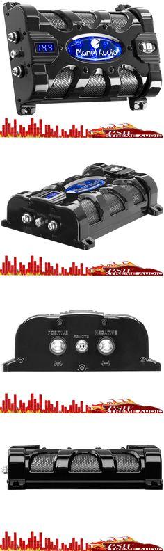 capacitors pcblk35 planet audio 3 5 farad black power capacitor w capacitors pc10f planet audio 10 farad power capacitor digital voltage display > buy