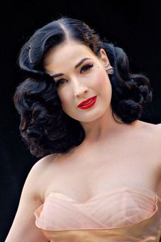 Dita She Just Epitomises 1950s Grace Style And Glamour Old Hollywood Hair Vintage