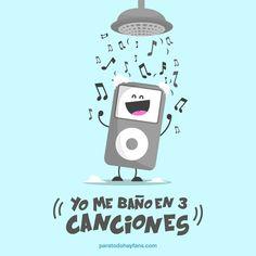 ¿En cuántas canciones te bañas? #Songs #ilustración #Design