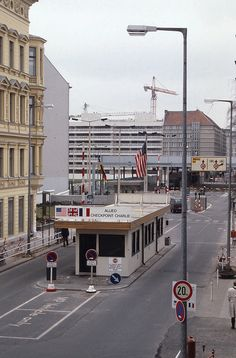 West Berlin   -  Checkpoint Charlie   -   March 1988 | by Ladycliff