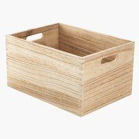 Koš THORMOD Š24×D34×V18 cm dřevo