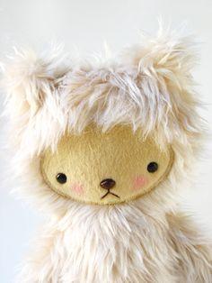 Kawaii Teddy Bear Plushie Tawny Shag Faux Fur Large LARS. $39.00, via Etsy.