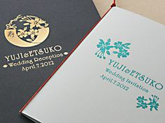 活版印刷 ウィングドウィール招待状 wedding invitation