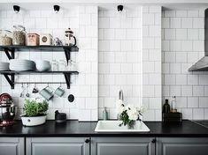 scandinavian kitchen in a beautiful retro home