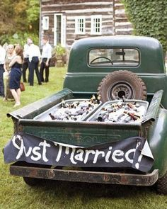 Refreshing Reception Cooler Ideas: truck bed