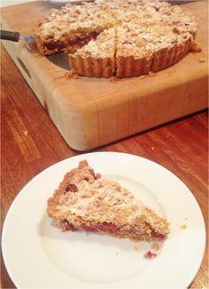 Cobnut and plum tart - perfect early autumn dessert, recipe Dan Lepard, Short and Sweet
