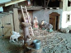 Weihnachtskrippe (Handarbeit) Interior Design Living Room, Ladder Decor, Nativity Sets, Crafts, Design Ideas, Bedroom, Winter, Home Decor, Collages