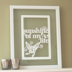 Sunshine Of My Life - Ant Design Gifts - Paper cut artwork