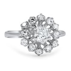 The Larisa Ring from Brilliant Earth Vintage Diamond Snowflake