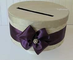 Wedding Card Box Gift Card Box Money Card by LaceyClaireDesigns, $72.00