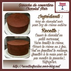 Dark Chocolate Cover Ganache - L . - Cover ganache Plus - Pumpkin Cake Recipes, Easy Cake Recipes, Baking Recipes, Dessert Recipes, Mousse, Candied Sweet Potatoes, Ice Cream Candy, Cakes For Women, Cake & Co