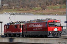 Switzerland - Rhätische Bahn locomotives 644 and 626