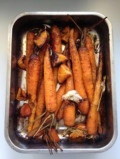 jeunes carottes rôties au four