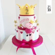 Peppa Pig eppa This halloween will be our favorite pre-school social gathering themes or templates, Peppa Pig Birthday Cake, Birthday Cake Girls, 2nd Birthday, Birthday Parties, Picnic Parties, Tortas Peppa Pig, Peppa Pig Cakes, Peppa Pig Y George, Cake Pops