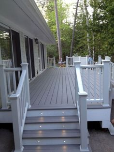 Porch and Patio Deck Paint . Porch and Patio Deck Paint . Home Porch, House With Porch, House Roof, Patio Deck Designs, Patio Design, Railing Design, Covered Deck Designs, Terrace Design, Covered Decks