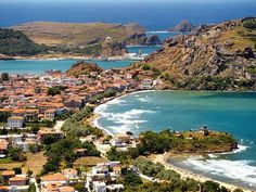 Agios Efstratios islet at Lemnos island North Aegean sea Greece Tours, Greece Travel, Samos, Beautiful Islands, Beautiful Places, All Inclusive Honeymoon Packages, Places In Greece, Best Vacations, Greek Islands