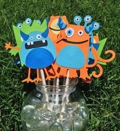 MADE TO ORDER Monster Party  Set of 12 Cupcake by CutieBugShop