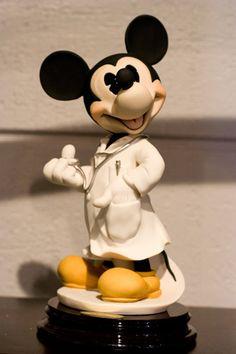 Mickey Doctor Porcelain Disney Figurine by Giuseppi Armani
