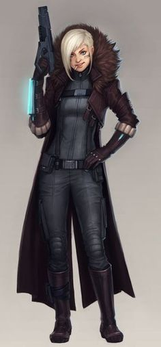 I see star wars drifter/smuggler maybe? Star Citizen, Character Concept, Character Art, Space Opera, Armor Clothing, Samurai, Cyberpunk Character, Star Wars Rpg, Sci Fi Characters