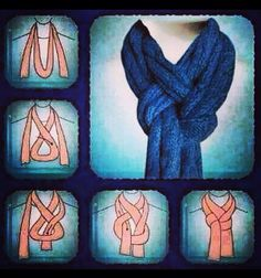Interesting ways to tie a scarf. Saw this on Facebook - not attribution. If anyone has a link to the originator, please let me know