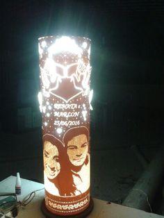 Luminária casamento frente