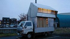 Japanese Pals Recycle Old Truck into Transforming Two-Story Mobile Home    by Yuka Yoneda, 01/13/11      Read more: Japanese Friends Recycle Old Truck into Transforming Two-Story Mobile Home | Inhabitat - Sustainable Design Innovation, Eco Architecture, Green Building