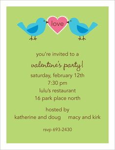 Love Birds Invitations! Ahhh, this year for my birthday I these to be my invitations.