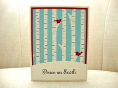 Birch Forest Christmas Card Set Birch Trees by ThePaperMenagerie, $23.00