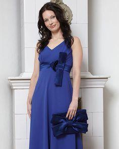 True blue - sæsonens smukkeste farver - sy selv festkjole i geogette.