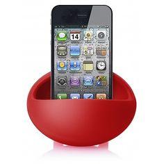 Magic Bean. Telefoonhouder die het mono geluid van uw telefoon een stereo effect meegeeft. http://www.pascogifts.com/nl/promotiemateriaal/gadgets/tablet-and-smartphone-gifts/magic-bean