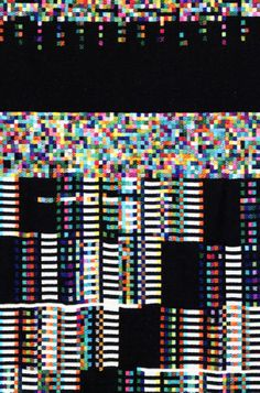 Phillip Stearns - Memory Fragment -  Digitally designed and woven textile