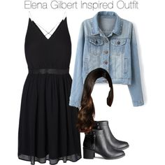 The Vampire Diaries - Elena Gilbert Inspired Outfit by staystronng on Polyvore featuring polyvore, fashion, style, Vero Moda, H&M, dress, tvd and ElenaGilbert