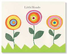 Baby Girl Nursery Prints, NURSERY ART PRINTS, Flowers, Orange,Yellow, Green, Whimsical Art, Toddler Girl Decor, Retro nursery Art via Etsy