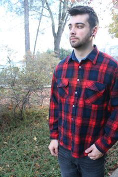 Twin Peaks Dream! Vintage Flannel from Horne's for Men by TreeVillageVintage, $28.50