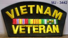 Vietnam Veteran with Ribbons Embroidered Patch