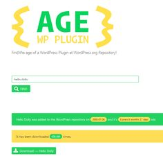 How to Find the Age of a Plugin Hosted in the WordPress Plugin Directory