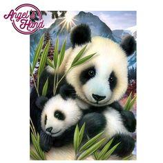 Intertoys diamond embroidery 5d diy diamond painting panda diamond full round painting Home decoration Picture  #upcube
