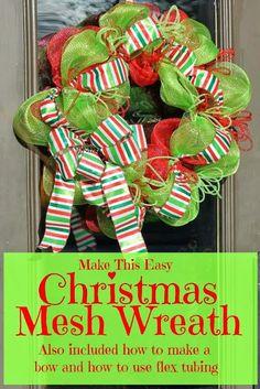 Miss Kopy Kat: Make A Christmas Mesh Wreath