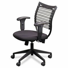 "Balt Seatflex Upholstered Management Chair by Balt, Inc.. $272.42. Managerial includes height adjustable arms. TAA compliant. Part Name : Seatflex Task Chair. Size : 40""H x 20""W x 18 1/2""D. Weight : 37 Lbs. Seatflex chairs feature an elastic band provide custom flexible support to back and seat that conform to each user's shape. GREENGUARD Indoor Air Quality Certified and GREENGUARD Children & Schools CertifiedSM. Black steel frame curves with the spine and seat features a..."