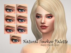 Natural Smokey Palette by HappyMarzipan at TSR • Sims 4 Updates