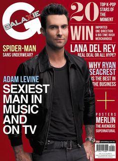 Galaxie Magazine April 16, 2012 cover featuring Adam Levine