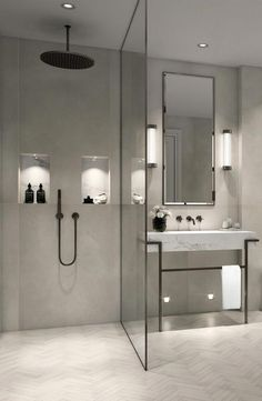9 Design Tips for a Modern Bathroom Makeover – added to our site quickly. I share very enjoyable designs and ideas about 9 Design Tips for a Modern Bathroom Makeover – . I'm offering you examples of decorations so that you can have a … Bad Inspiration, Bathroom Inspiration, Bathroom Ideas, Bathroom Organization, Bathroom Storage, Bathroom Cleaning, Bath Ideas, Budget Bathroom, Bathroom Layout