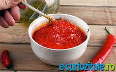 A must-have in one's pantry this red chili paste takes minutes to prepare in a food processor Chili Paste Recipe, Pickled Eggplant, Easy Mediterranean Recipes, Red Pepper Paste, Dehydrated Onions, Eggplant Dishes, Red Chili, Homemade Sauce, Middle Eastern Recipes