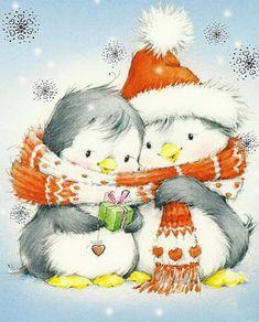 Милые новогодние открытки Марины Федотовой: 17 позитивных работ - Ярмарка Мастеров - ручная работа, handmade