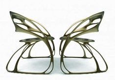 Majestic Monarch Chairs - Eduardo García Campos' Chairs are Inspired by the Monarch Butte (GALLERY)